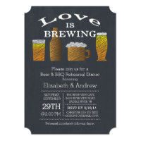 Love Brewing Barbecue Rehearsal Dinner Invitation