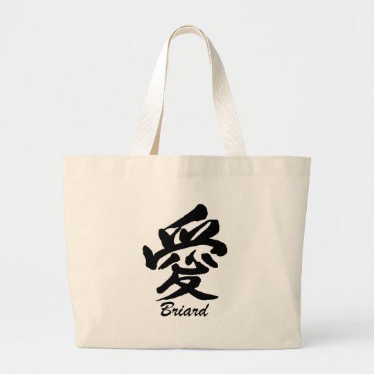 love Briard Large Tote Bag