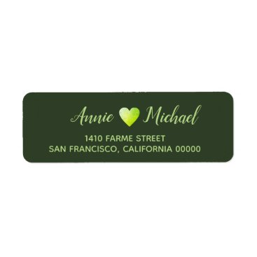 Bride Themed love bride groom names address label