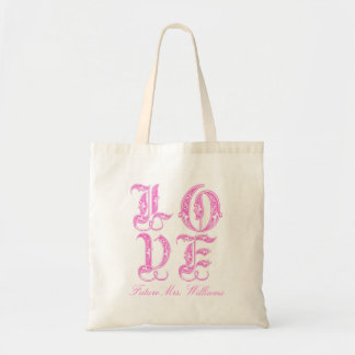 LOVE Bride to Be Budget Tote Bag