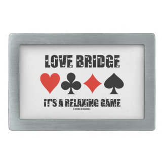 Love Bridge It's A Relaxing Game (Four Card Suits) Belt Buckle