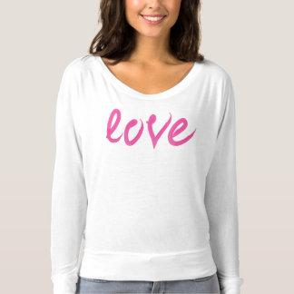 Love - Bright Pink Handwritten Watercolor Script T-shirt