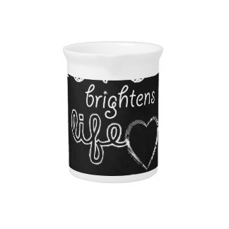 Love brightens life be the source inspirational beverage pitchers