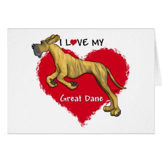 Love Brindle Great Dane UC Card