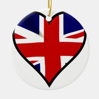 Love Britain Ceramic Ornament