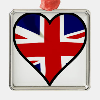 Love Britain Metal Ornament