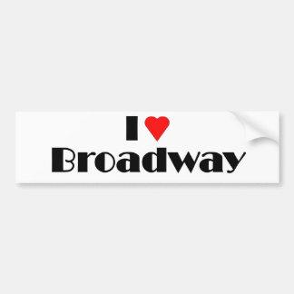 Love Broadway Car Bumper Sticker