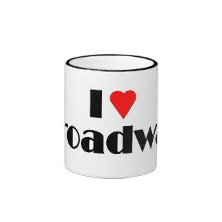 Love Broadway Ringer Mug