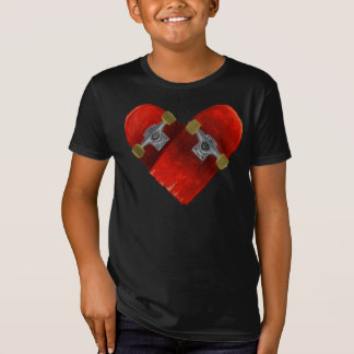 Love broken board skateboarding design T-Shirt