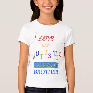 ¡Love~Brother autístico de la hermana! Camiseta de Playeras
