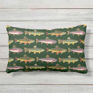Love Brown Trout Fishing Lumbar Pillow