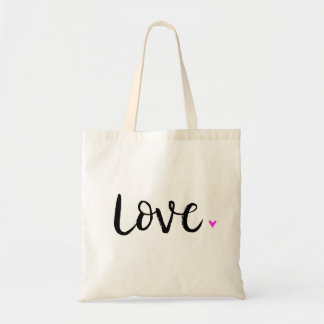 Love Brush Lettering Tote Bag