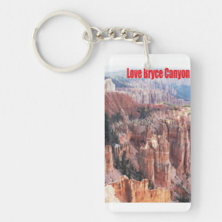 Love Bryce Canyon Double-Sided Rectangular Acrylic Keychain