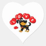Love (Bubba) Heart Stickers
