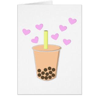 Love Bubble Tea Card