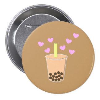 Love Bubble Tea Pinback Button