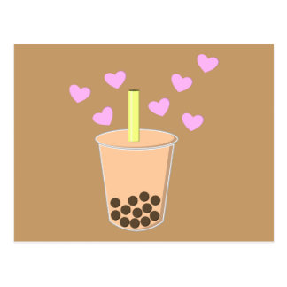 Love Bubble Tea Postcard