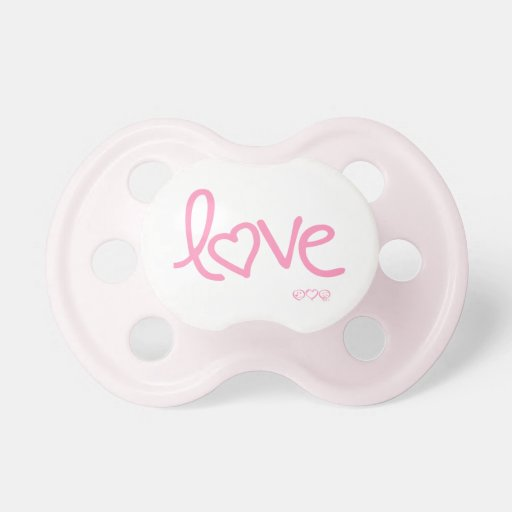 love - bubblegum pink pacifiers