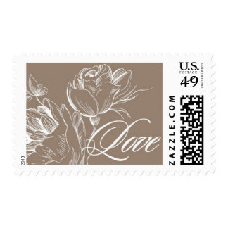 Love Budding A by Ceci New York Postage Stamps