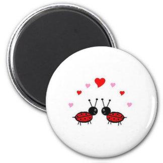 Love Bug 2 Inch Round Magnet