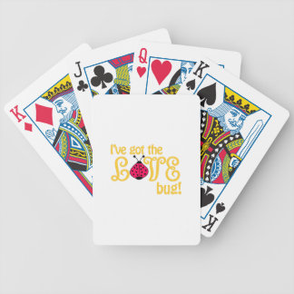 Love Bug Bicycle Playing Cards