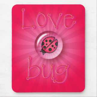 LOVE BUG BUBBLE by SHARON SHARPE Mouse Pad