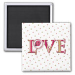 LOVE BUG BUBBLE & STRIPES by SHARON SHARPE Magnets