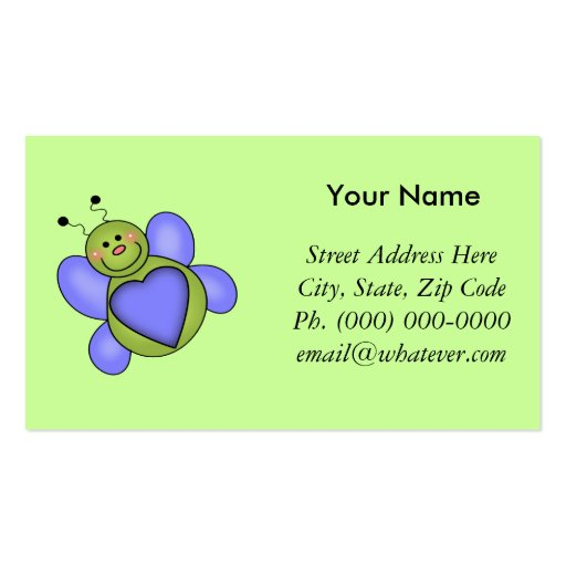 Love Bug Double-Sided Standard Business Cards (Pack Of 100)