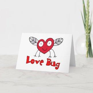 Love Bug Card card
