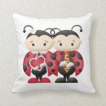 Love Bug Couple 1 - Pillow Cojín