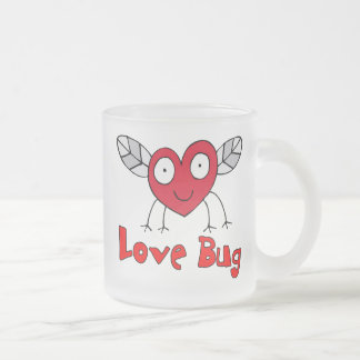 Love Bug Frosted Glass Coffee Mug