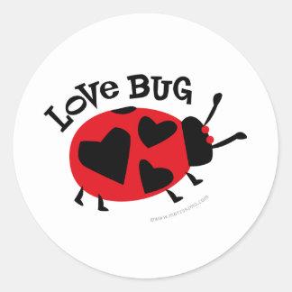 Love Bug Gifts Classic Round Sticker