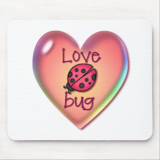LOVE BUG & HEART BUBBLE by SHARON SHARPE Mouse Pad