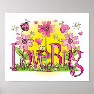 Love Bug Lady Bug Girls Room Wall Art