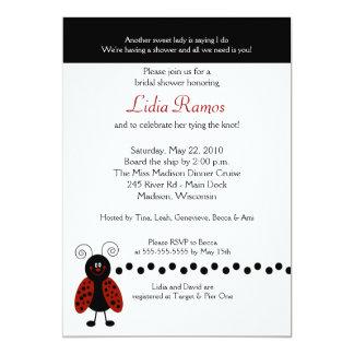 Love Bug Ladybug 5x7 Bridal Shower Invite