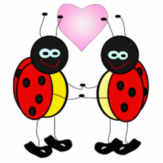Love Bug Ladybug Cartoon Photo Cutouts