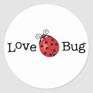 Love Bug - Ladybug Classic Round Sticker