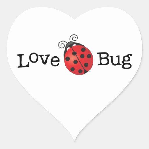 Love Bug - Ladybug Heart Sticker