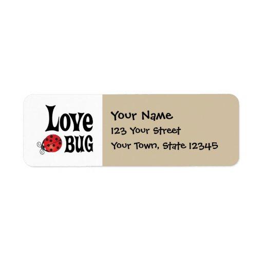 Love Bug - Ladybug Return Address Label