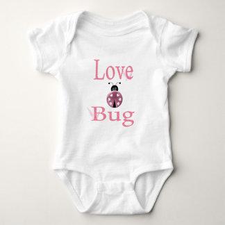 love bug pink baby bodysuit