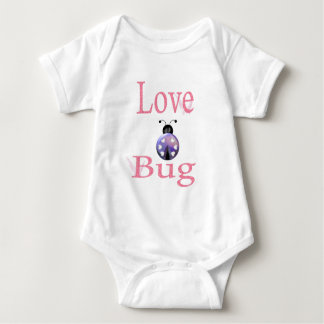 love bug purple baby bodysuit