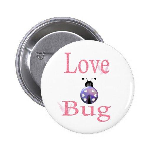 love bug purple pinback button