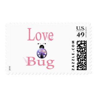 love bug purple stamp
