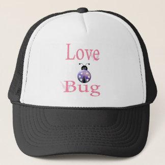 love bug purple trucker hat