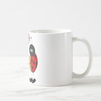 """love bug """"show your love one"""" coffee mugs"""