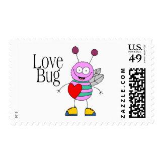 Love Bug Valentine Postage Stamp