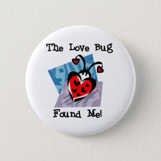 Love Bug Valentine Tshirts and Gifts Button