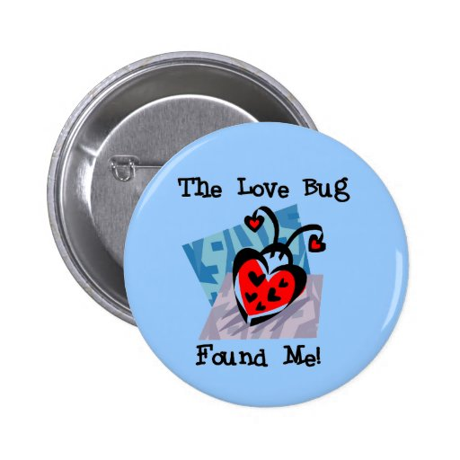 Love Bug Valentine Tshirts and Gifts Buttons