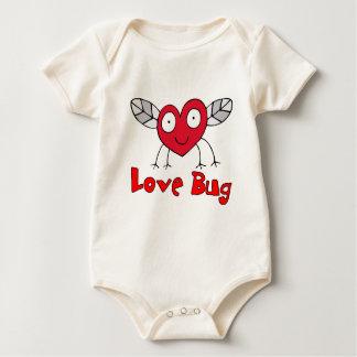Love Bug Valentines Baby Baby Bodysuit