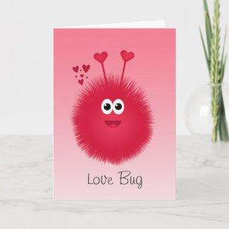 Love Bug Valentine's Day Card card